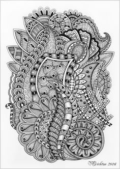 Zentangle art,_Viktoriya Crichton