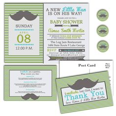 mustache baby shower  @Madison Malloy This made me think of you! (: