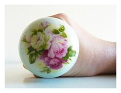 Items similar to English rose vintage porcelain door knob on Etsy Vintage Door Knobs, Door Knobs And Knockers, Antique Door Knobs, Porcelain Door Knobs, Door Furniture, Ottoman Furniture, Arched Doors, Unique Doors, English Roses