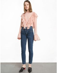 Blush Pink Ruffled Top