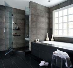 This bathroom looks like it's at bathhouse!