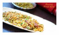 An easy Moong Beans n Egg Fried Rice