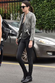 Kendall Jenner leaves the Fendi fashion show during Milan Fashion Week on Sept. 18, 2014, in Milan, Italy.