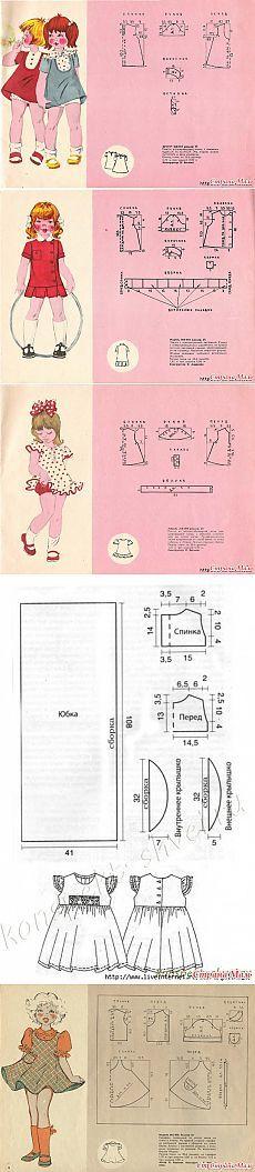 Милейшие модели платьев советских времен для девочек - Авторские уроки шитья... моделирование, крой, технология - Страна Мам