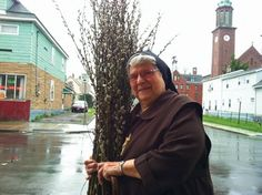 """Sister Josanne has her own special """"miracle grow"""" Dyngus Day, Poland, Buffalo, Red And White, Images, Sisters, Apps, Painting, Party"""