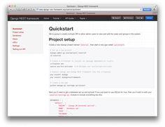 #Django #Rest Framework Quickstart Guide