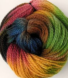 Hand Dyed Wool Yarn- Mirage by FiberFusion on @Etsy