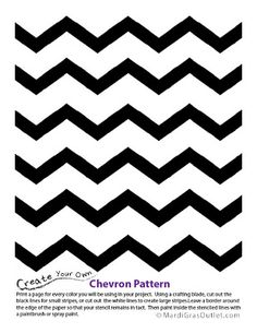 Free Printable: Chevron Pattern