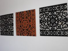 Wall Art stenciled with doormat