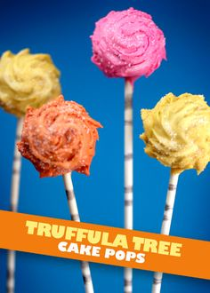 To celebrate the big-screen debut of Dr. Seuss' The Lorax, whip up a batch of these cute Truffula Tree Cake Pops from Bakerella. Dr. Seuss, Dr Seuss Cake, Dr Seuss Cupcakes, Cake Pops, Der Lorax, Yummy Treats, Sweet Treats, Cocoa, Tree Cakes