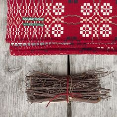 coldatnight Welsh Wool Blanket in Berry Red