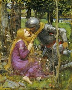 John William Waterhouse - A Study For ''La Belle Dame Sans Merci''
