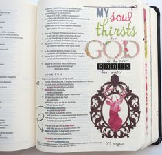 My soul thirsts for God in journaling Bible