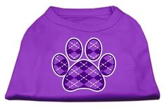 Argyle Paw Purple Screen Print Shirt Purple Med (12)