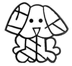 Romero Britto para colorir - Cachorro