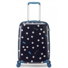 The Vintage Dog Dot cabin size hard shell suitcase has an elegant tapered design for all your packing needs, so you don't have to compromise on style while you travel.