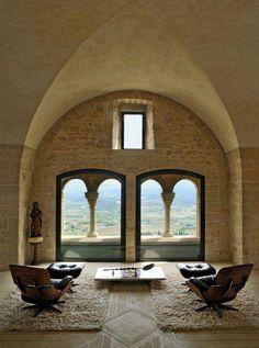 Château du Crestet, Provençe, France. A #modernist home from a 12th century #ruin