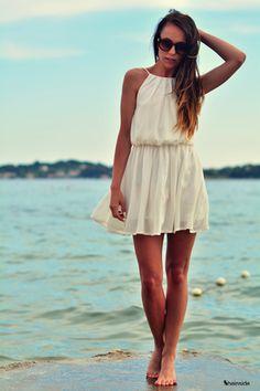 #SALE White Off The Shoulder Dress Shop the #SALE at #Sheinside