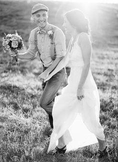 Wedding Poses husband doing something cheesy