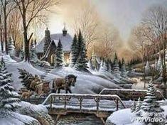 Christmas prints by Terry Redlin Winter Szenen, I Love Winter, Terry Redlin, Winter Painting, Christmas Scenes, Christmas Cards, Christmas Tree, Thomas Kinkade, Christmas Paintings