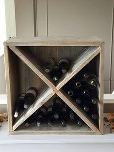 Casier à vin vin Shelve boîte de vin vin par KastelHomesFurniture