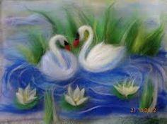 Ham keçe örnekleri Wet Felting, Needle Felting, Felt Flowers, Crochet Flowers, Felt Pictures, Peyote Stitch Patterns, Wool Art, Felt Birds, Felting Tutorials