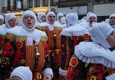 Binche Carnival Belguim, Gilles costsumes, Carnaval de Binche, belgian mardi gras festival parade celebration. Belgium Wallonia tourism press trip. More on #lacarmina blog: http://www.lacarmina.com/blog/2016/05/david-bowie-blackstar-mural-binche-carnival-belgium/