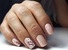 When it comes to leaf nail art you can find a lot of great designs already. More and more bodies are trying new leaf designs to make it more in to the season or can have more styles combined into one unique nail art. Stylish Nails, Trendy Nails, Cute Acrylic Nails, Cute Nails, Nagel Hacks, Work Nails, Bride Nails, Wedding Nails, Neutral Nails