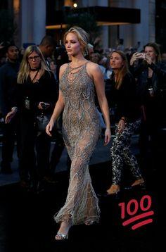 Jennifer Lawrence at the #mothermovie UK Premiere