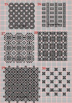 Embroidery and embroider:blackwork,plain fillings 18-19