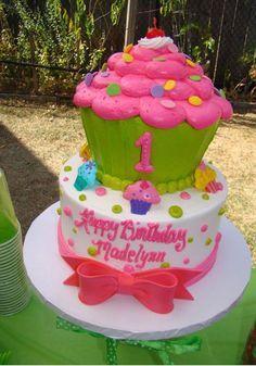 Gâteau muffin géant
