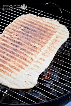 Make your own pizza dough - pizza on the grill!