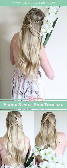 How to get the perfect viking braids hairstyle in a couple easy steps. This hair tutorial is perfect for those wanted to get that beautiful game of thrones/ viking inspired hairstyles. Long Hair Tips, Easy Hairstyles For Long Hair, Braids For Short Hair, Trendy Hairstyles, Braided Hairstyles, Beautiful Hairstyles, Summer Hairstyles, Renaissance Hairstyles, Viking Braids