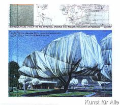 Christo und Jeanne-Claude - Wrapped Trees Nr. I (Riehen)
