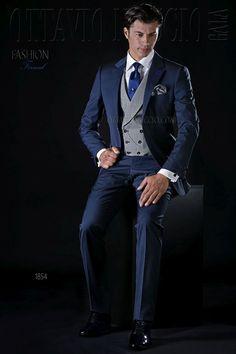 ONGala 1854 - Navy blue notch lapel wedding suit