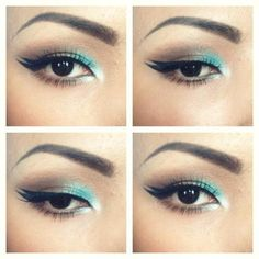 turquoise and brown makeup promise phan - Beautiful combo!