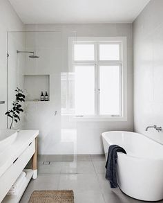 All white everything.... #pinteresting #thebeachpeople #seasideluxe #bathroom #inspiration