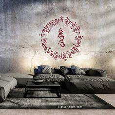 Mantra Wandtattoo Medizin Buddha Mantra Yoga Studio Design, Yoga Inspiration, Third Eye, Ayurveda, Beatles, Web Design, Yoga Lifestyle, Mantra, Chakra