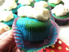 Mrs. Fields Secrets Earth Day cupcakes