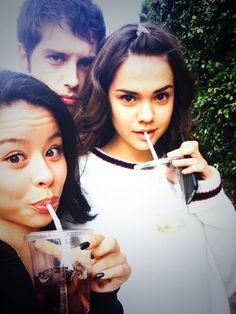 Actors from The Fosters. aka Callie, Mariana and Brandon