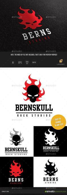 Burn Skull Logo Template #design #logodesign #logotype Download: http://graphicriver.net/item/burn-skull/9936855?ref=ksioks
