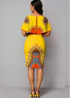 Best African Dress Designs, Ankara Dress Designs, Best African Dresses, Latest African Fashion Dresses, African Print Dresses, African Print Fashion, African Attire, Cape Sleeve Dress, Couture