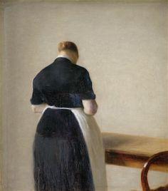Vilhelm Hammershøi - Woman Seen from the Back - 1888