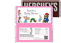 Baby Shower Story Book Theme Candy Bar Wrappers by Andabloshop