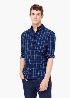 Rutger Schoone | MANGO Slim fit Check Cotton Shirt 63007001
