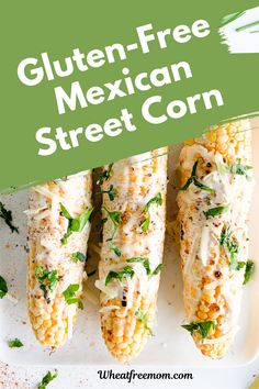 This gluten-free Mexican street corn is a must to make for your next bbq. Grilled corn with fresh herbs, spices and crema is a delicious vegetable to make. Mexican Street Corn or Elotes is a traditional Mexican street food and it is simply addictive. Gluten Free Vegetarian Recipes, Gluten Free Appetizers, Appetizer Recipes, Mexican Street Food, Street Corn, Free Meal, Free Summer, Meal Recipes, Fresh Herbs
