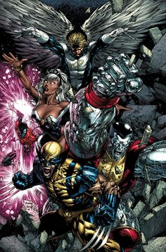 david finch color comic covers | comicbooks:Uncanny X-Men #492 cover art by David FinchSo 90's style ...