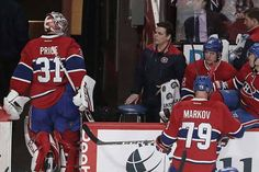 Canadiens goalie Carey Price looks toward the team's bench after being pulled from the game after goal by San Jose Sharks' Melker Karlsson during second period NHL action in Montreal on Friday Dec. Montreal Canadiens, Shark S, O Canada, Los Angeles Kings, San Jose Sharks, Vancouver Canucks, Latest Sports News, Best Player, Hockey Players