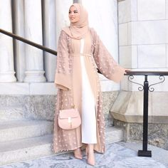 2019 Shanel Wholesale Factory Price Top Quality New Long Open Abaya Women Muslim Abaya Six Color Small Ball 2018 2018 Shanel Wholesale Factory… Islamic Fashion, Muslim Fashion, Modest Fashion, Hijab Outfit, Hijab Dress, Modest Dresses, Modest Outfits, Ideas Hijab, Mode Abaya