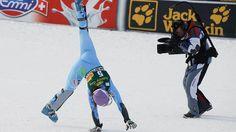 Tina Maze exprime sa joie - La plus grande skieuse de tous les temps sur une saison